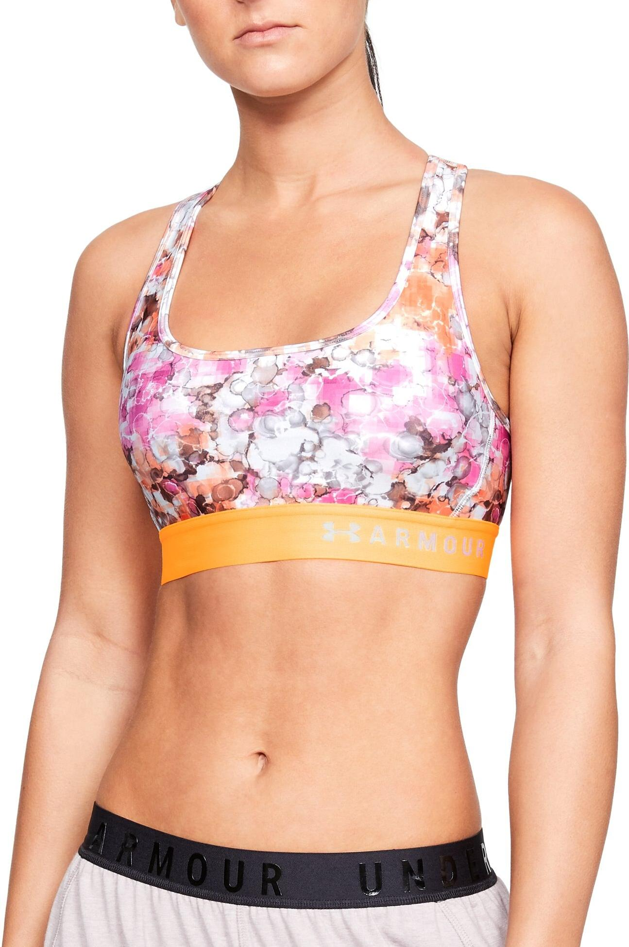 Soutien-gorge Under Armour Armour Mid Crossback Printed Bra